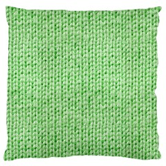 Knittedwoolcolour2 Large Cushion Case (two Sides)