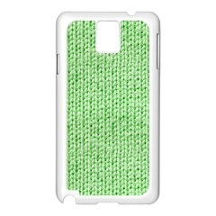 Knittedwoolcolour2 Samsung Galaxy Note 3 N9005 Case (white) by snowwhitegirl