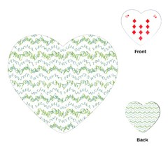 Wavy Linear Seamless Pattern Design  Playing Cards (heart)  by dflcprints