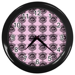 Three Women Pink Wall Clocks (black) by snowwhitegirl