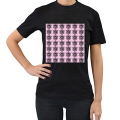 Three Women Pink Women s T Shirt (black) (two Sided)