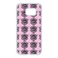Three Women Pink Samsung Galaxy S7 Edge White Seamless Case by snowwhitegirl