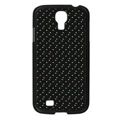Pink Flowers On Black Samsung Galaxy S4 I9500/ I9505 Case (black) by snowwhitegirl