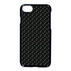 Pink Flowers On Black Apple Iphone 8 Seamless Case (black) by snowwhitegirl