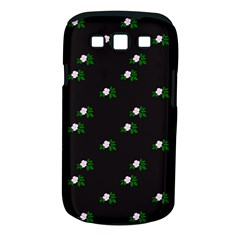 Pink Flowers On Black Big Samsung Galaxy S Iii Classic Hardshell Case (pc+silicone) by snowwhitegirl
