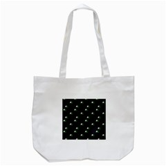 Pink Flowers On Black Big Tote Bag (white) by snowwhitegirl
