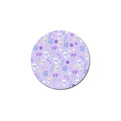 Violet,lavender,cute,floral,pink,purple,pattern,girly,modern,trendy Golf Ball Marker (4 Pack) by 8fugoso