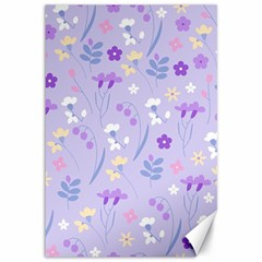 Violet,lavender,cute,floral,pink,purple,pattern,girly,modern,trendy Canvas 12  X 18   by 8fugoso