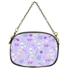 Violet,lavender,cute,floral,pink,purple,pattern,girly,modern,trendy Chain Purses (one Side)  by 8fugoso