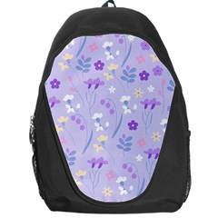 Violet,lavender,cute,floral,pink,purple,pattern,girly,modern,trendy Backpack Bag by 8fugoso