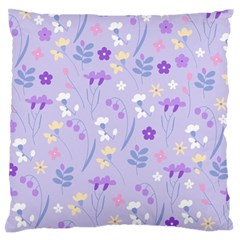 Violet,lavender,cute,floral,pink,purple,pattern,girly,modern,trendy Standard Flano Cushion Case (one Side) by 8fugoso
