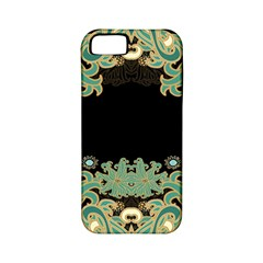 Black,green,gold,art Nouveau,floral,pattern Apple Iphone 5 Classic Hardshell Case (pc+silicone) by 8fugoso