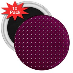 Pink Flowers Magenta 3  Magnets (10 Pack)