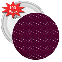 Pink Flowers Magenta 3  Buttons (100 pack)