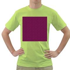 Pink Flowers Magenta Green T-Shirt