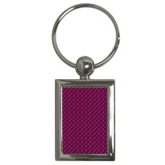 Pink Flowers Magenta Key Chains (Rectangle)