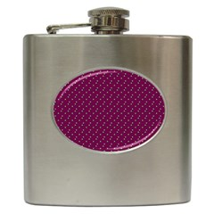 Pink Flowers Magenta Hip Flask (6 oz)