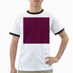 Pink Flowers Magenta Ringer T-Shirts