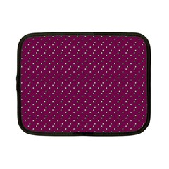 Pink Flowers Magenta Netbook Case (Small)