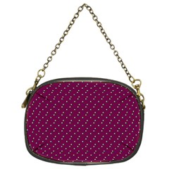 Pink Flowers Magenta Chain Purses (Two Sides)