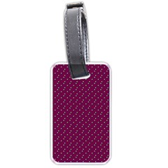 Pink Flowers Magenta Luggage Tags (One Side)