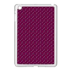 Pink Flowers Magenta Apple iPad Mini Case (White)