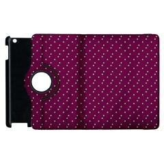 Pink Flowers Magenta Apple iPad 3/4 Flip 360 Case