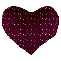 Pink Flowers Magenta Large 19  Premium Heart Shape Cushions