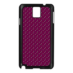Pink Flowers Magenta Samsung Galaxy Note 3 N9005 Case (black) by snowwhitegirl
