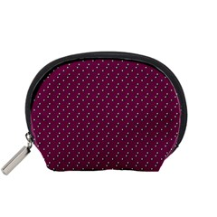 Pink Flowers Magenta Accessory Pouches (small)  by snowwhitegirl