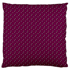 Pink Flowers Magenta Standard Flano Cushion Case (One Side)