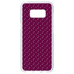 Pink Flowers Magenta Samsung Galaxy S8 White Seamless Case