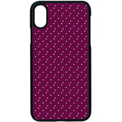 Pink Flowers Magenta Apple Iphone X Seamless Case (black)