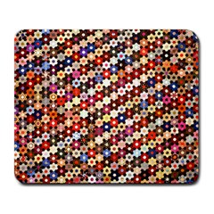 Mosaic Pattern Quilt Pattern Large Mousepad by paulaoliveiradesign