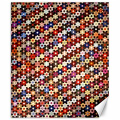 Mosaic Pattern Quilt Pattern Canvas 20  X 24  by paulaoliveiradesign