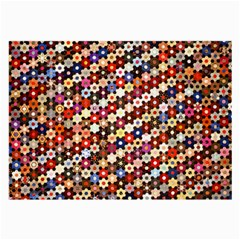 Mosaic Pattern Quilt Pattern Large Glasses Cloth (2 Sides) by paulaoliveiradesign