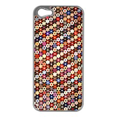 Mosaic Pattern Quilt Pattern Apple Iphone 5 Case (silver) by paulaoliveiradesign
