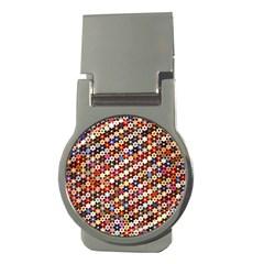 Mosaic Pattern Quilt Pattern Money Clip (round) by paulaoliveiradesign