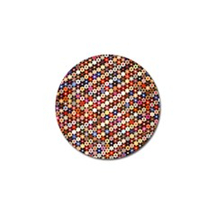 Mosaic Pattern Quilt Pattern Golf Ball Marker (4 Pack) by paulaoliveiradesign
