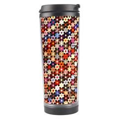 Mosaic Pattern Quilt Pattern Travel Tumbler by paulaoliveiradesign