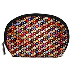 Mosaic Pattern Quilt Pattern Accessory Pouch (large) by paulaoliveiradesign