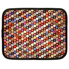 Mosaic Pattern Quilt Pattern Netbook Case (xxl) by paulaoliveiradesign
