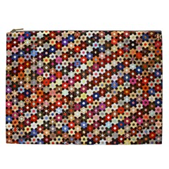 Mosaic Pattern Quilt Pattern Cosmetic Bag (xxl) by paulaoliveiradesign