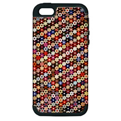 Mosaic Pattern Quilt Pattern Apple Iphone 5 Hardshell Case (pc+silicone) by paulaoliveiradesign