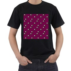 Pink Flowers Magenta Big Men s T Shirt (black) (two Sided)