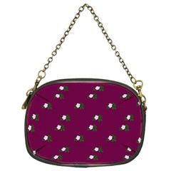 Pink Flowers Magenta Big Chain Purses (two Sides)  by snowwhitegirl