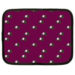 Pink Flowers Magenta Big Netbook Case (xl)