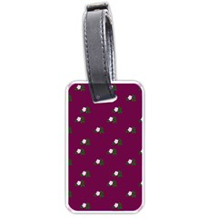 Pink Flowers Magenta Big Luggage Tags (one Side)  by snowwhitegirl
