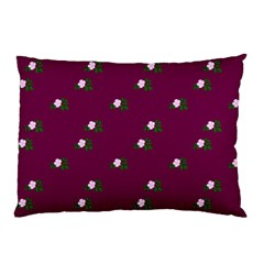 Pink Flowers Magenta Big Pillow Case (two Sides) by snowwhitegirl