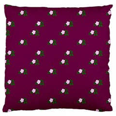 Pink Flowers Magenta Big Large Cushion Case (two Sides) by snowwhitegirl